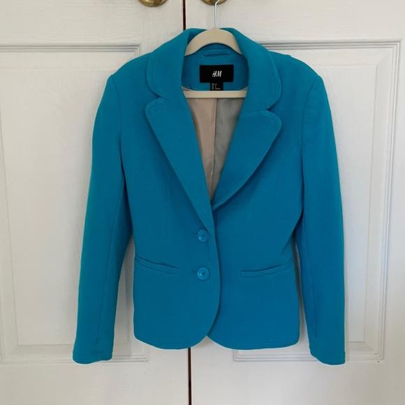 H&M Blue Cropped Blazer Size 2